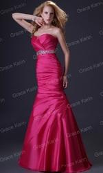Вечернее платье на высокий рост цвета фуксии